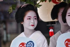 Lady`s Parade of Gion festival, Kyoto Japan Royalty Free Stock Photo