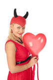 Picture of a girl in a devil costume Stock Images
