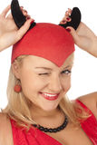 Picture of a girl in a devil costume Stock Photo