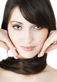 Picture of  girl face over white Royalty Free Stock Image