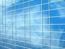Picture of a glass building. With reflections of clouds Royalty Free Stock Photos