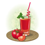 Picture a glass of tomato juice and tomato Royalty Free Stock Photo
