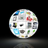 Picture globe on black background Royalty Free Stock Image