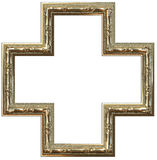 Picture gold frame Stock Photos
