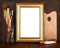 Picture gold frame Stock Photography