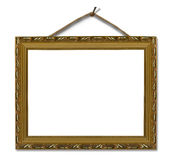 Picture gold frame Royalty Free Stock Image