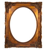 Picture gold frame with a decorative pattern Royalty Free Stock Image