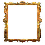 Picture gold frame with a decorative pattern Royalty Free Stock Photo
