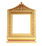 Picture gold frame Thai style Stock Photos