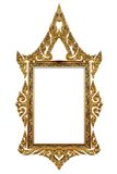 Gold frame. Picture gold frame Thai style Royalty Free Stock Photography