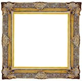 Picture gold frame Royalty Free Stock Photography