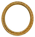 Picture gold oval frame Royalty Free Stock Photos
