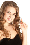 Picture of a gorgeous woman loong to the camera Stock Image
