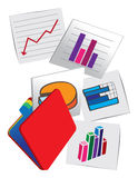 Picture graphics of stock charts Royalty Free Stock Images