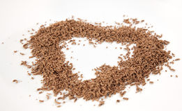 A picture of grated chocolate Stock Image