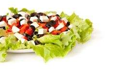 Picture of a greek salad Royalty Free Stock Images