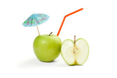 Picture of green apple isolated on white Royalty Free Stock Images