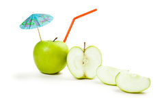 Picture of green apple  on white Royalty Free Stock Photos