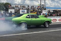 Chevrolet nova smoke show Stock Photos
