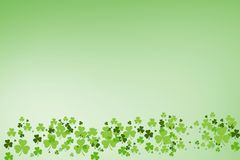 Picture of green shamrock royalty free illustration