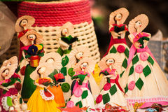 Picture of a group of beautiful mexican crafts.  Stock Photography