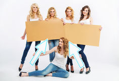 Picture of group cheerful ladies Stock Photography