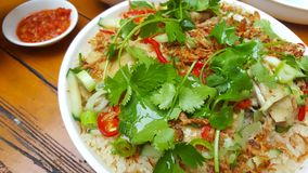 Popular chinese dish of Hainanese Chicken Rice stock photography