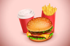 Picture of hamburger Stock Photography