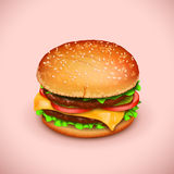 Picture of hamburger Stock Photo