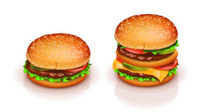 Picture of hamburger Royalty Free Stock Images
