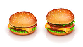 Picture of hamburger Stock Photos