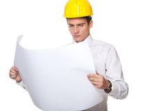 Picture of a handsome builder. Royalty Free Stock Photos