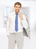 Picture of handsome man Stock Images