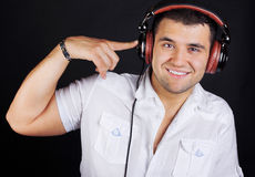 Picture of happy DJ Stock Photos