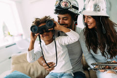 Picture of happy family having fun time together Royalty Free Stock Photography