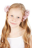Picture of happy girl with flowers in hair Stock Photo