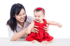 Picture of happy mother with adorable baby Royalty Free Stock Image