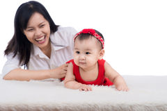Picture of happy mother with adorable baby Stock Photos