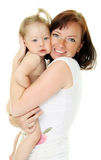 Picture of happy mother with baby Stock Photography