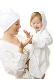 Picture of happy mother with baby Royalty Free Stock Image