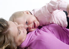 Picture of happy mother with baby Stock Photos