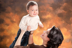 Picture of happy mother with baby Royalty Free Stock Images