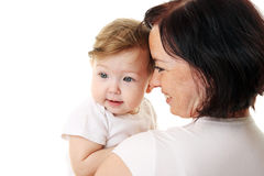 Picture of happy mother with baby Stock Image