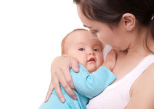 Picture of happy mother and her adorable baby Stock Image