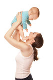 Picture of happy mother holding adorable baby Royalty Free Stock Photo