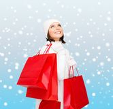 Picture of happy woman with shopping bags Stock Photos