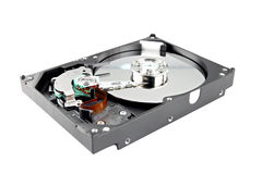 The Picture Hard drive Open the top cover off. Royalty Free Stock Photos