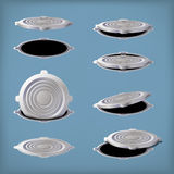 Picture of hatch set Royalty Free Stock Photos