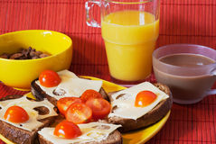 Picture of health breakfast Royalty Free Stock Photo