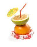 Picture of healthy cocktail and tape measure Stock Photo